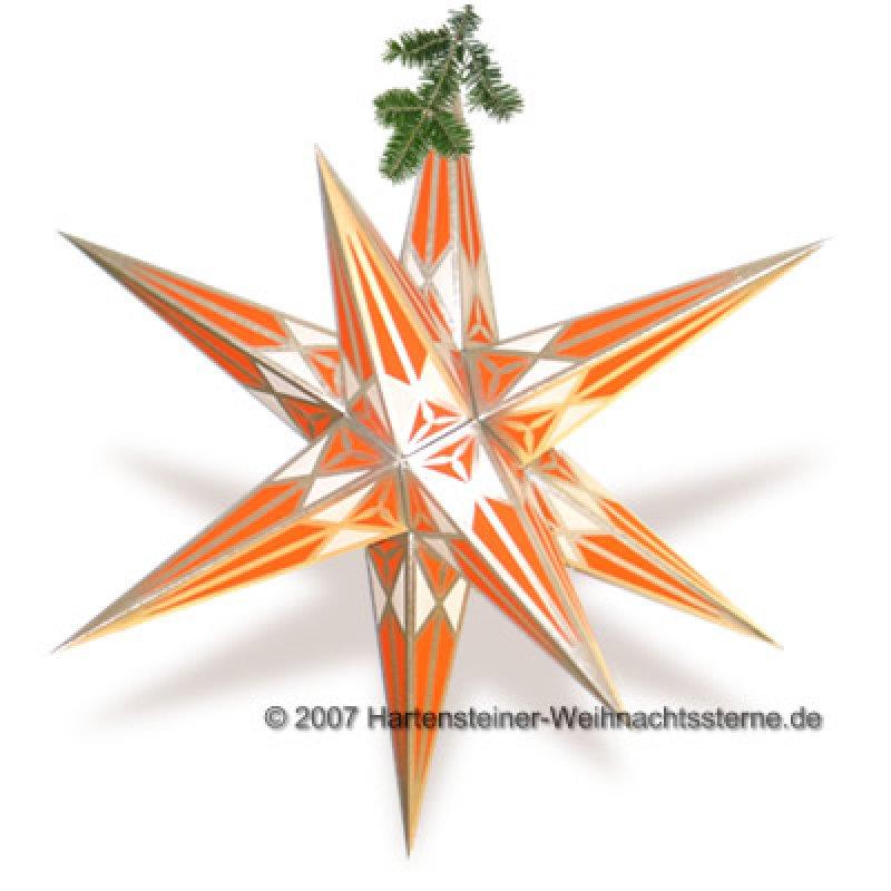adventsstern silber orange erzgebirgische volkskunst. Black Bedroom Furniture Sets. Home Design Ideas