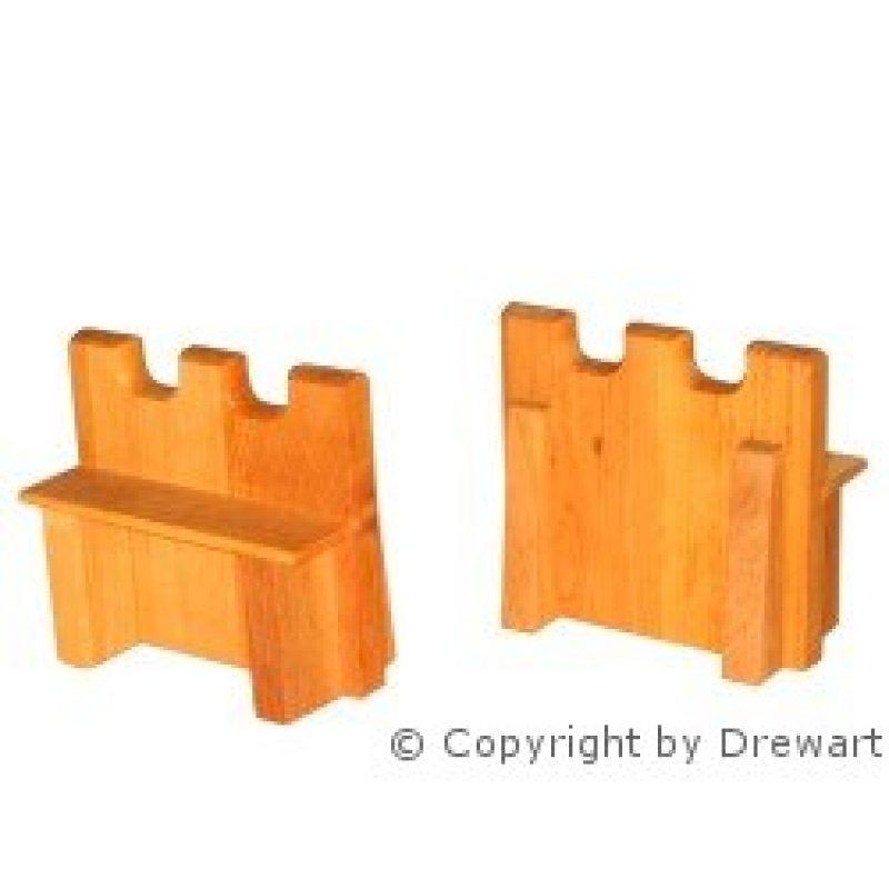 drewart mauer aus holz 15 cm erzgebirgische volkskunst holzspielwaren. Black Bedroom Furniture Sets. Home Design Ideas