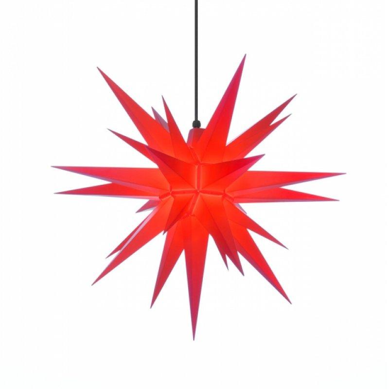 herrnhuter weihnachtsstern a7 rot aus kunststoff mit beleuchtung erzgebirgische volkskunst. Black Bedroom Furniture Sets. Home Design Ideas