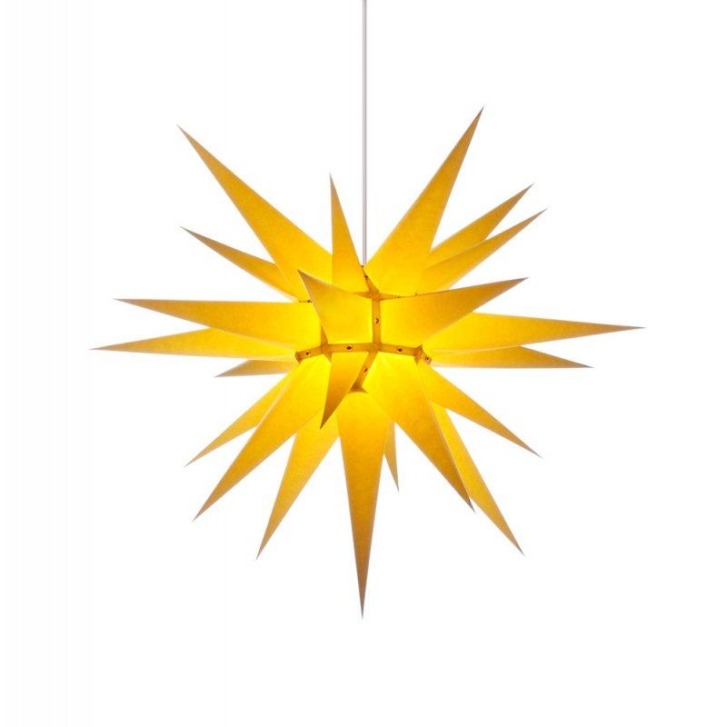 herrnhuter weihnachtsstern i7 gelb mit beleuchtung. Black Bedroom Furniture Sets. Home Design Ideas
