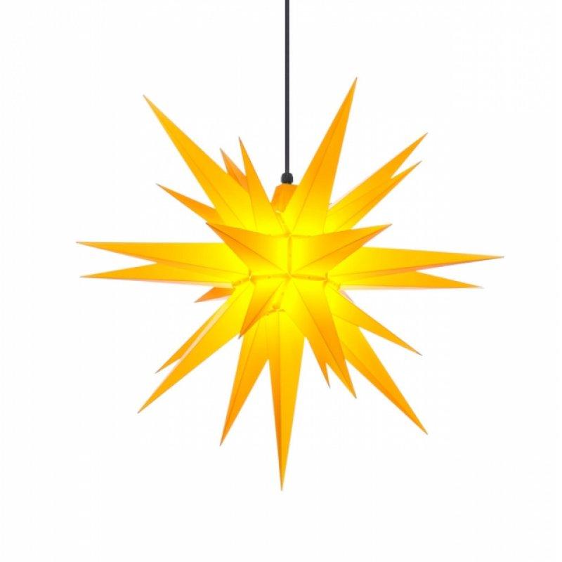 herrnhuter weihnachtsstern a7 gelb aus kunststoff mit beleuchtung erzgebirgische volkskunst. Black Bedroom Furniture Sets. Home Design Ideas