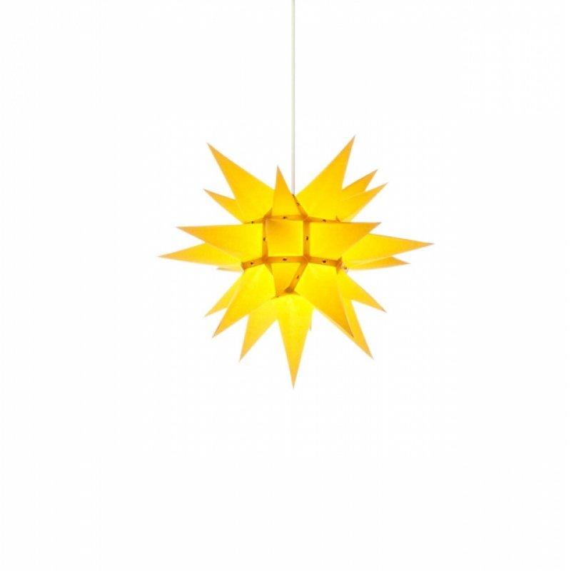 herrnhuter weihnachtsstern i4 gelb mit beleuchtung erzgebirgische volkskunst das original. Black Bedroom Furniture Sets. Home Design Ideas