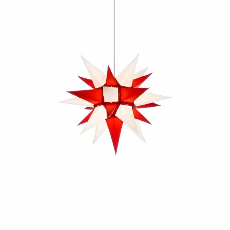 herrnhuter weihnachtsstern i4 wei rot mit beleuchtung erzgebirgische volkskunst das original. Black Bedroom Furniture Sets. Home Design Ideas