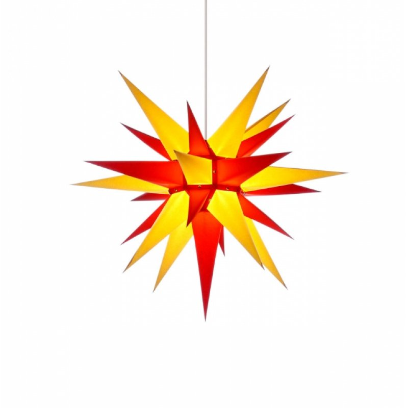 herrnhuter weihnachtsstern i6 gelb rot mit beleuchtung. Black Bedroom Furniture Sets. Home Design Ideas