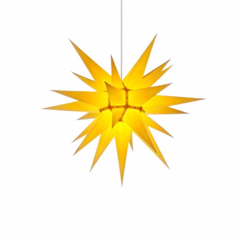 herrnhuter weihnachtsstern i6 gelb mit beleuchtung. Black Bedroom Furniture Sets. Home Design Ideas