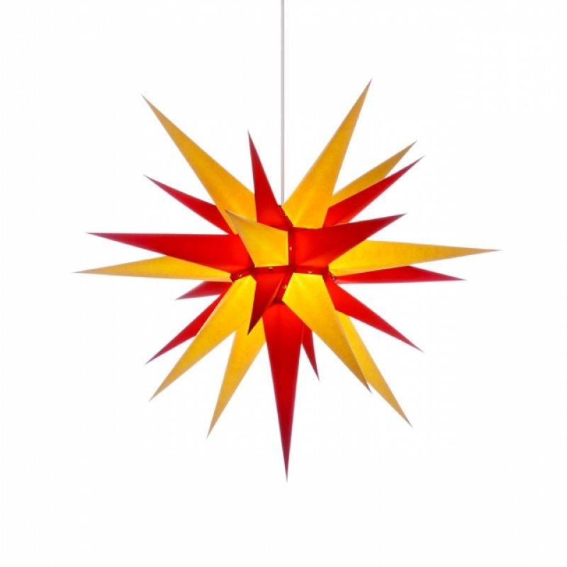 herrnhuter weihnachtsstern i7 gelb rot erzgebirgische volkskunst das original. Black Bedroom Furniture Sets. Home Design Ideas