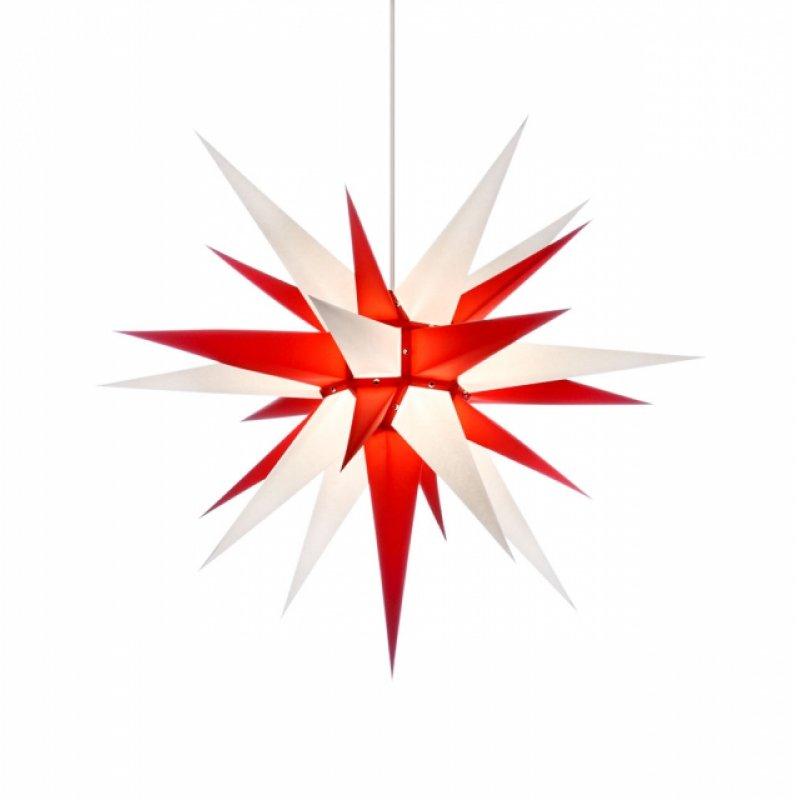 herrnhuter weihnachtsstern i7 wei rot mit beleuchtung erzgebirgische volkskunst das original. Black Bedroom Furniture Sets. Home Design Ideas