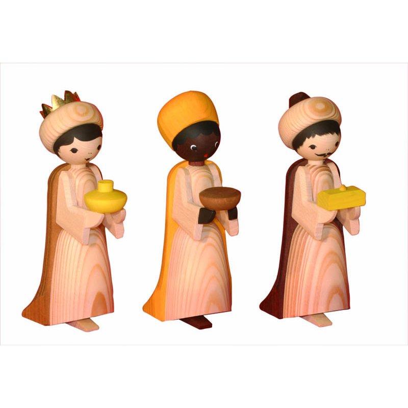 ulmik heilige 3 könige gebeizt 3teilig  erzgebirgische